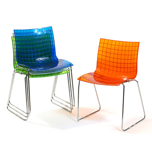 x3 stacking chair by Marcus Moran for Knoll Studio.