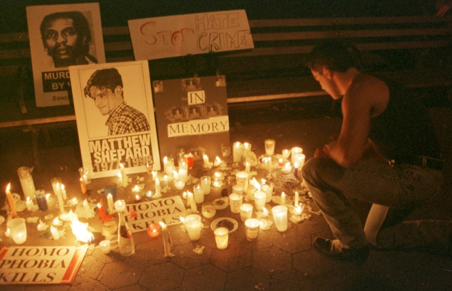 Candlelight Vigil For Slain Gay Wyoming Student Matthew Shepard